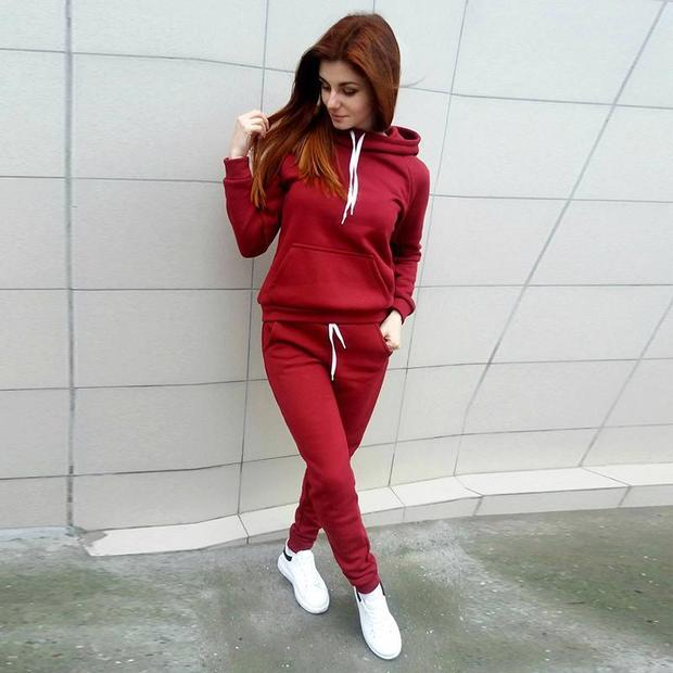 Easy Match Solid Pocket Hooded Women Suit - My Fabulous Closet