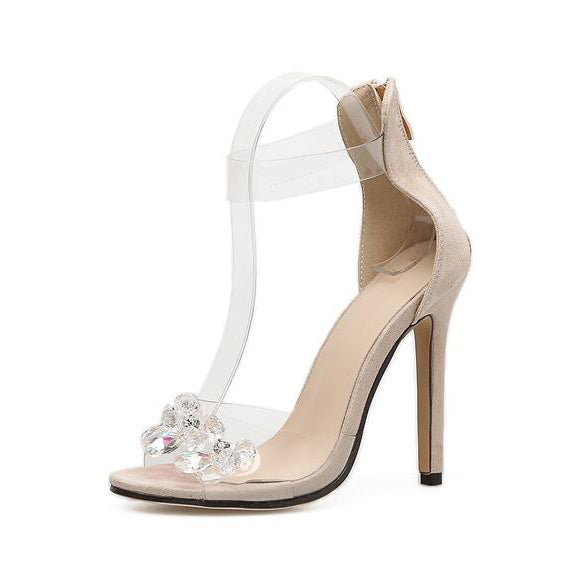 Transparent Rhinestone Sexy High Heel Sandals - My Fabulous Closet
