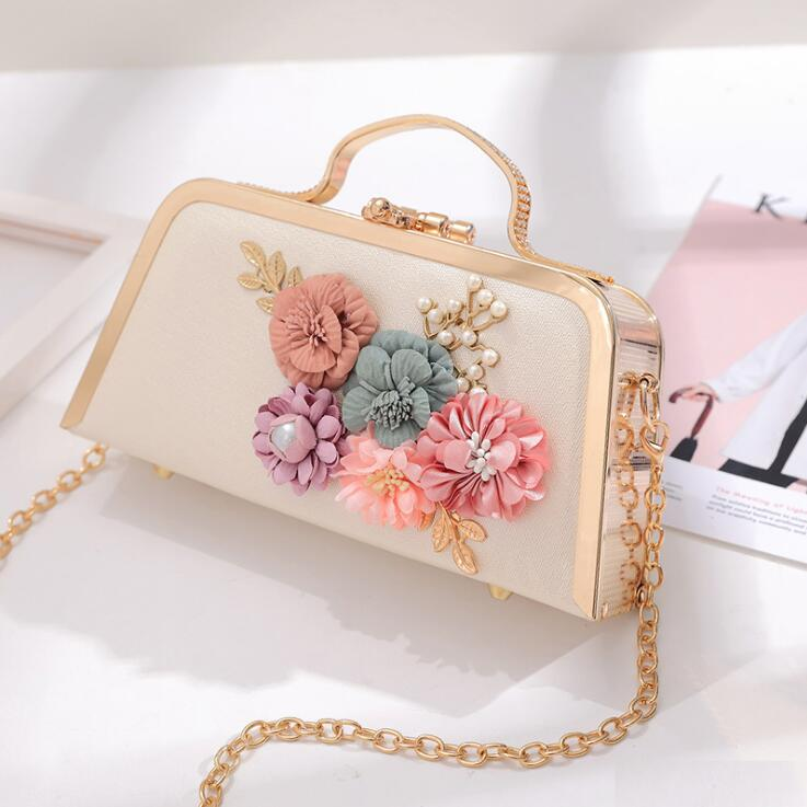 Elegant Beading Applique Chain Design Bags For Party