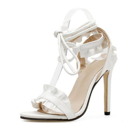 Fashion Cross Bandage Thin Heel Sandals - My Fabulous Closet
