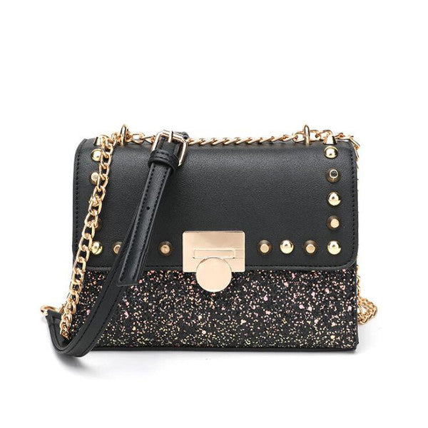 Fashion Sequined Rivet Single-Shoulder Bags