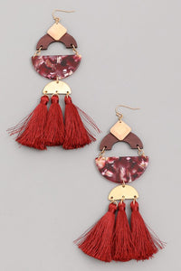 New Geo Tassel Earrings