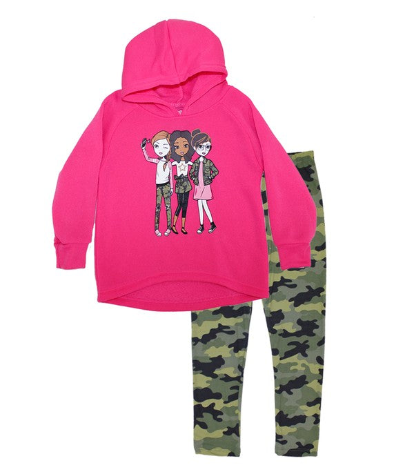 Camo And Pink Girl's Set Little Girls