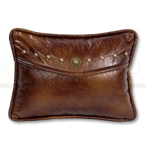 Faux Leather Stud Ruidoso Pillow