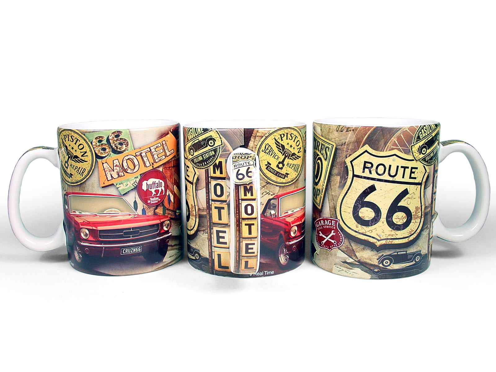 R66 garage collage 18oz mug