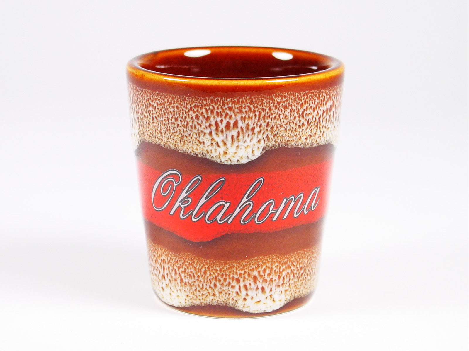 OK Leopard Glaze Shot Glass