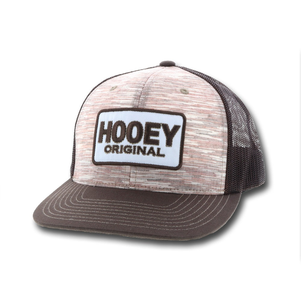 """Hooey Original"" Heathered Brown and Tan Trucker OSFA"