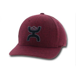 "Hooey ""Jet"" Maroon Flexfit with Black/Gray"