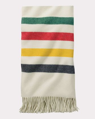 Pendleton Throw Blanket White Fringe