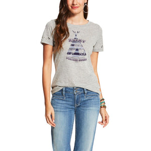 Camp Fire HTHR GRY Tee