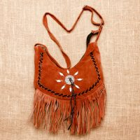 Medium Suede Leather Purse 808