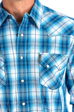 Blue Long Sleeve Plaid Modern Fit