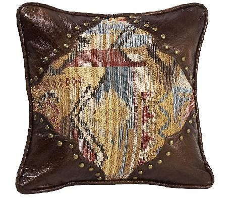 Leather Stud Ruidoso Pillow