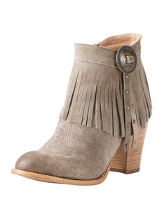 Avery Taupe Suede Bootie