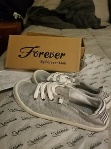 Forever by Forever Link Canvas Sneaker LightGrey