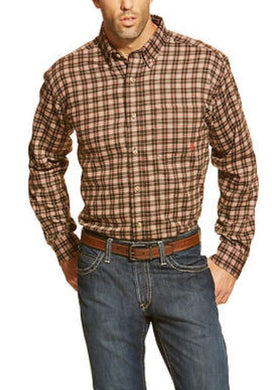 Ariat FR Plaid Coffee Bean