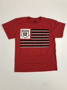 Cinch Boys Red Flag Tee