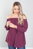 Red Bean Off Shoulder Top