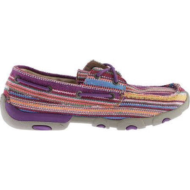 WDM0047 Women's Driving Mocs Purple Canvas