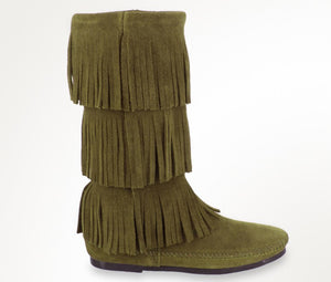3 Layer Fringe Loden Minnetonka - Women's