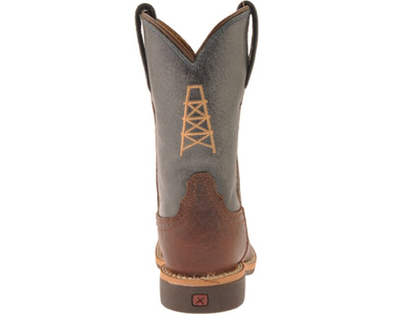 Youth Oil Cog Blue Boots YCW0003