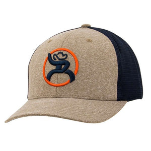 "Hooey ""Strap"" Roughy Heather Tan/Navy Trucker - Youth"