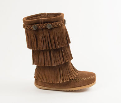 3 Layer Fringe Dusty Brown Kids