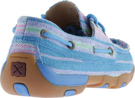 WDM0048 Women's Driving Mocs Blue Canvas
