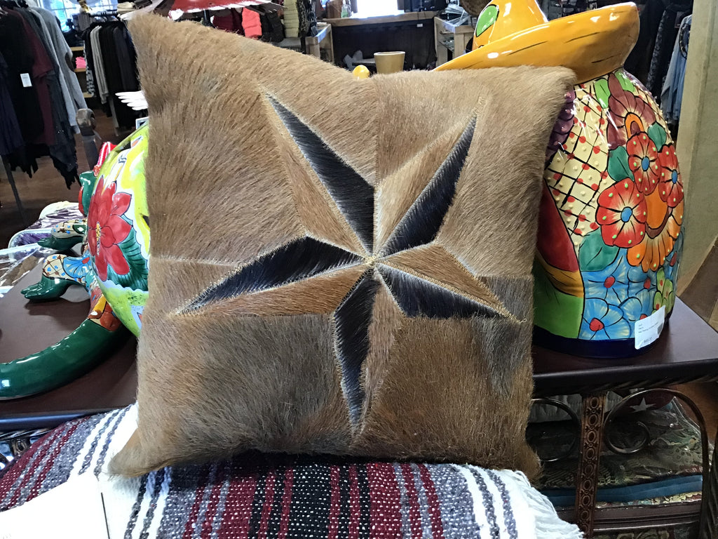 Star Cowhide Pillow Sham