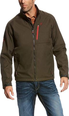 Men's Logo Softshell Jacket Walnut