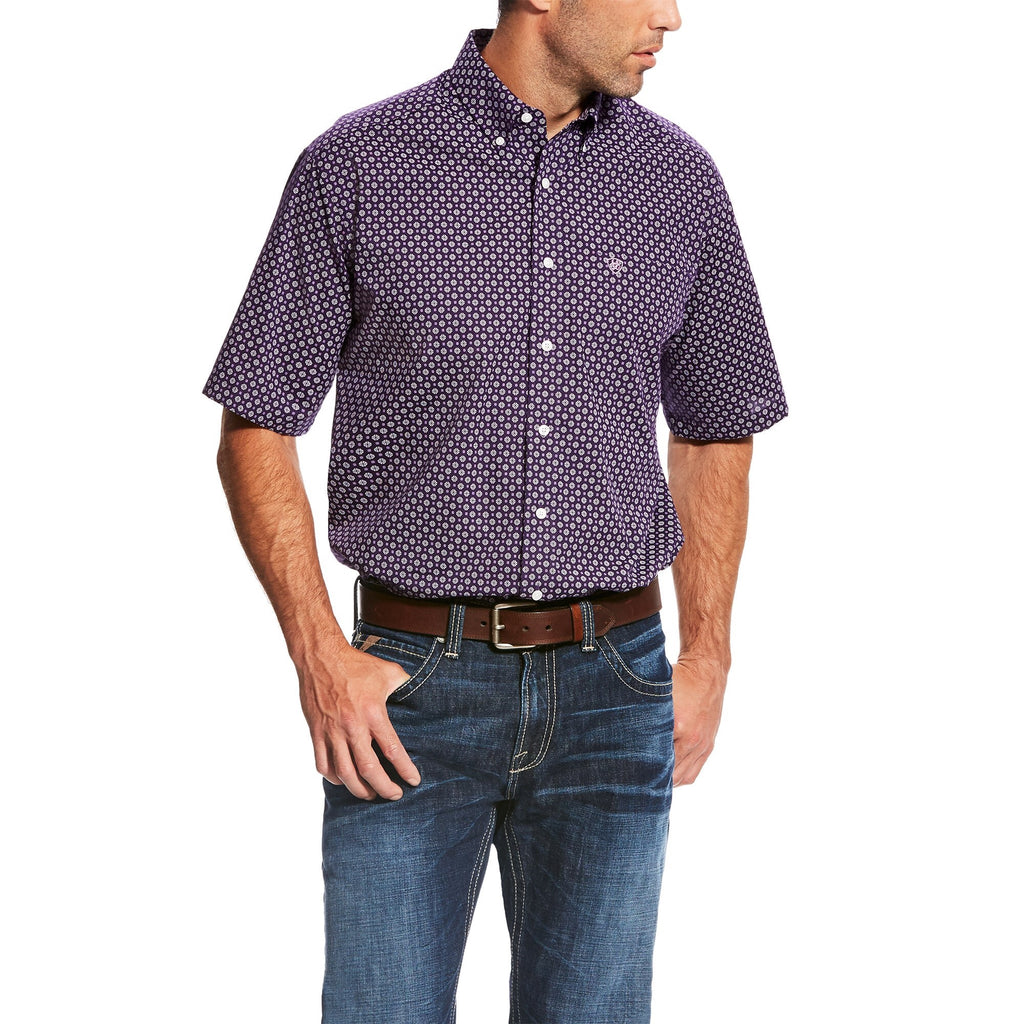 WF Paul Print Short Sleeve Plum Depths