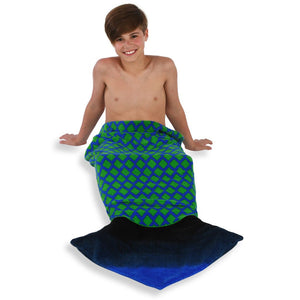 TowelTails Dragon Towel Green/Blue