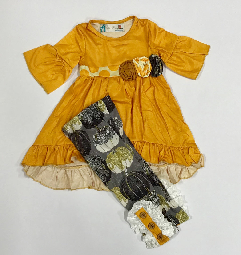 NEW Wootie Pie 2 Piece Pumpkin Outfit