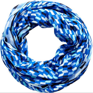 Infinity Scarf-Pop Art Blue