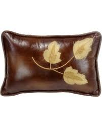 Leather Leaf highland Lodge Pillow