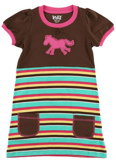Horse Stripe Tee Dress