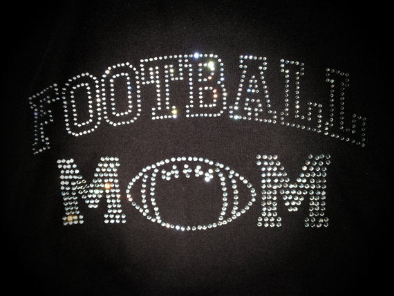 Football Mom Black Burnout