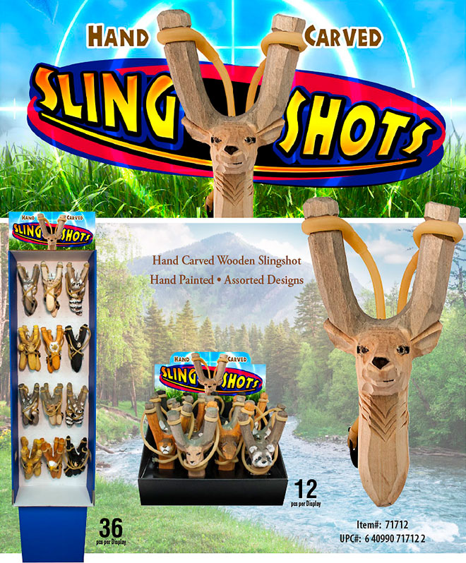 Hand Carved Animal Sling Shots