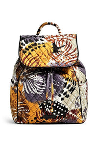 Drawstring Back Pack Painted Feathers