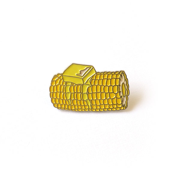 Corncob Enamel Pin