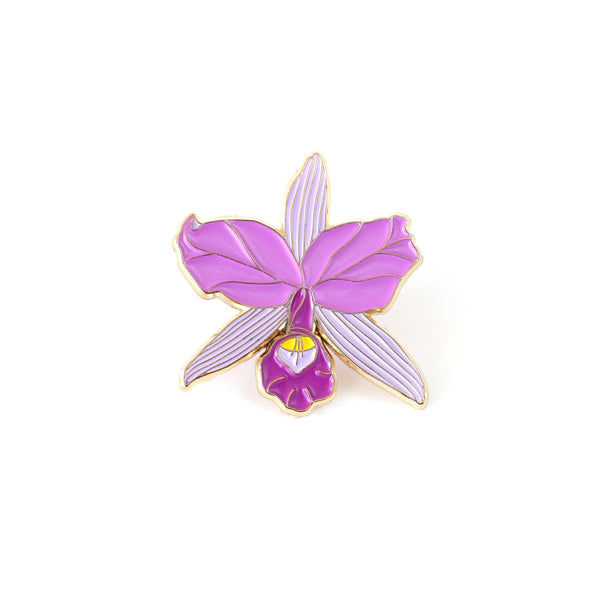 Purple Orchid Enamel Pin
