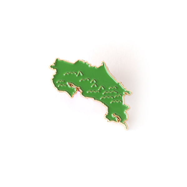Costa Rica Map Enamel Pin