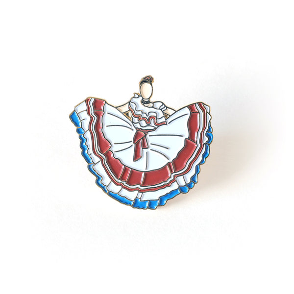 Costa Rica's Women Traditional Dress Enamel Pin