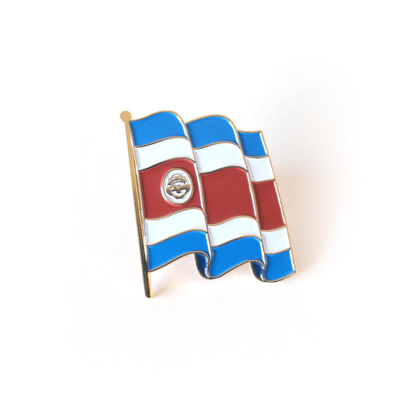 Costa Rica Flag Enamel Pin