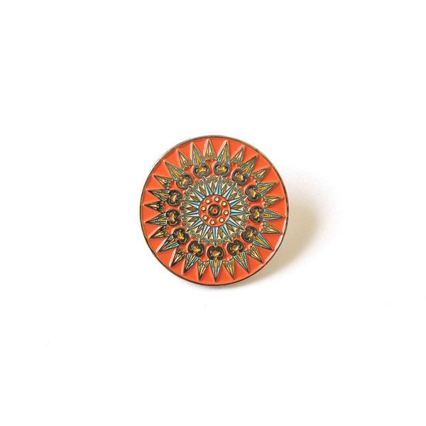 Oxcart Wheel Enamel Pin