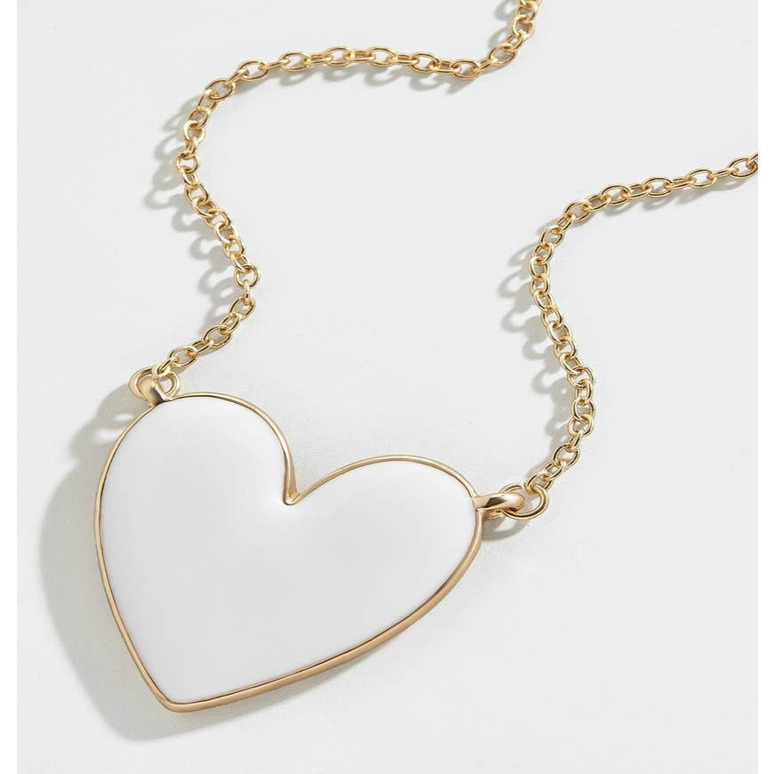 Enamel Heart Pendant Necklace