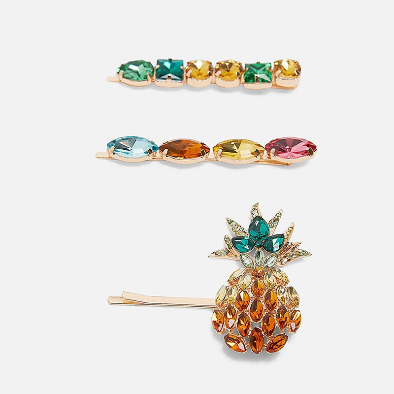 Crystal Pineapple Hair Pin