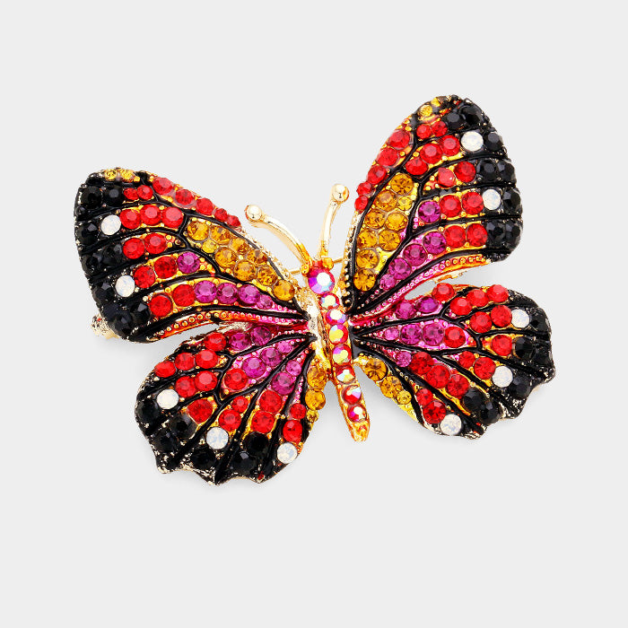 Fuchsia Butterfly Pin
