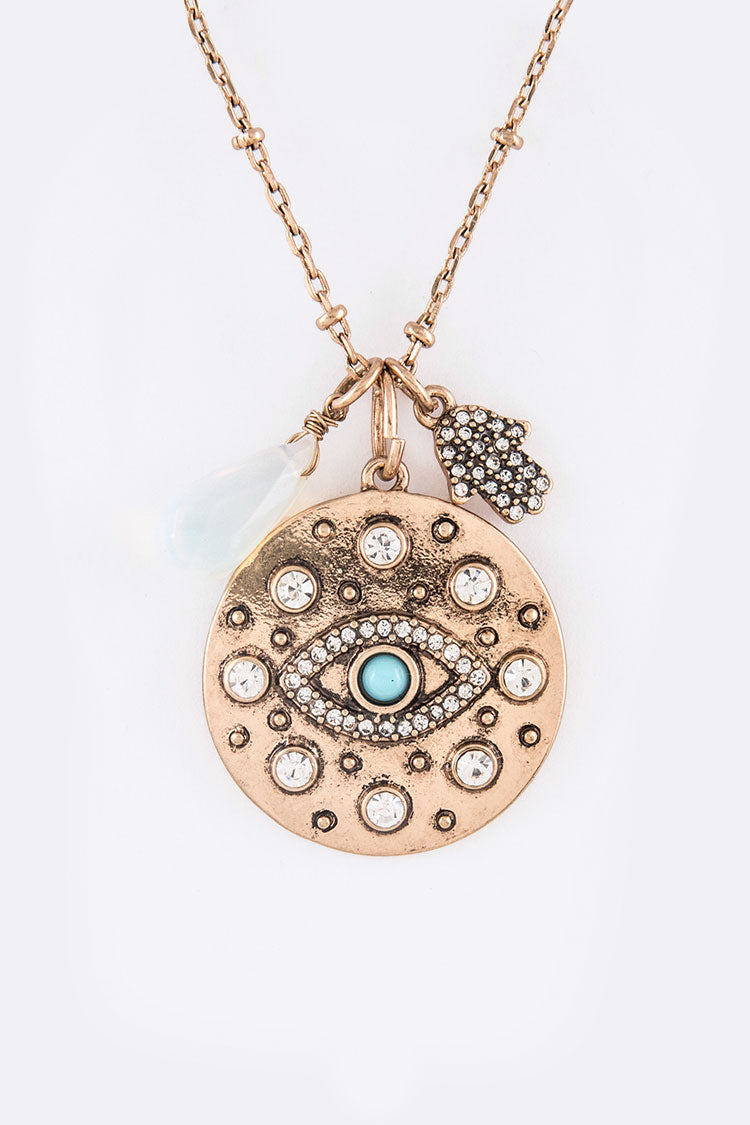 The Eye  & Hamsa Pendant
