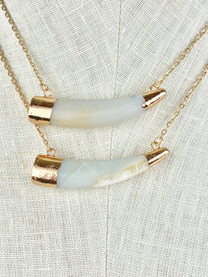 Agate Horn Necklace